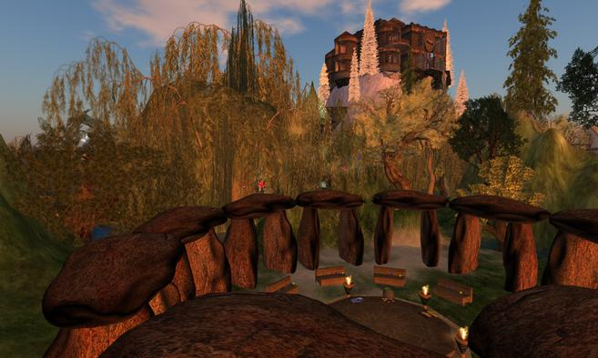Sacred Cauldron stone circle in Second Life
